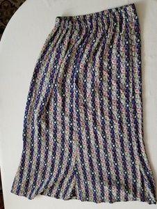 Flax crinkle full skirt size Medium